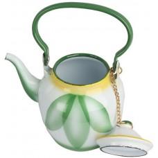 أباريق الشاي من خليط معدني ، اخضر - مقاس 1 لتر